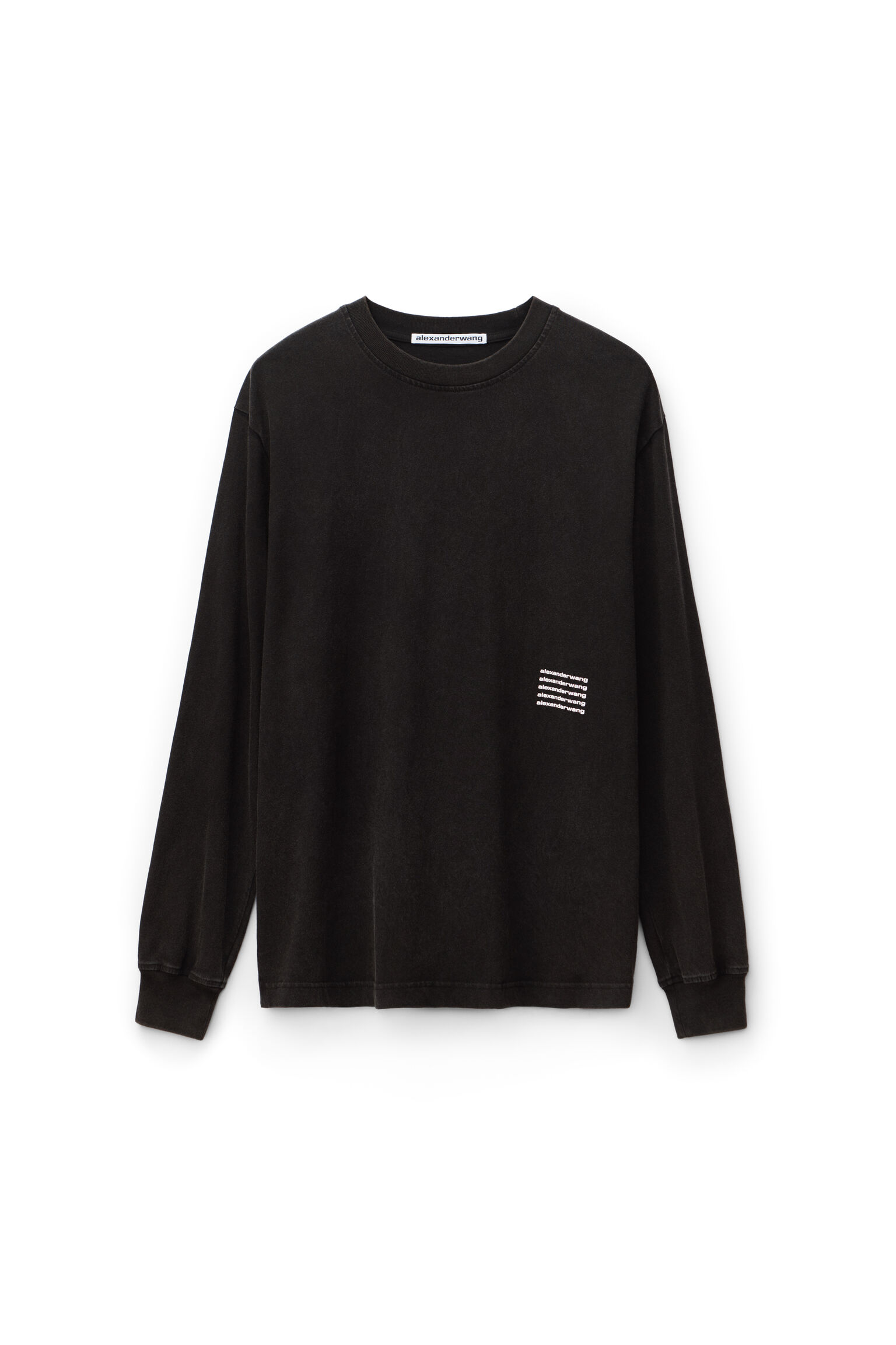 Alexanderwang Acid Wash Long Sleeve T Shirt
