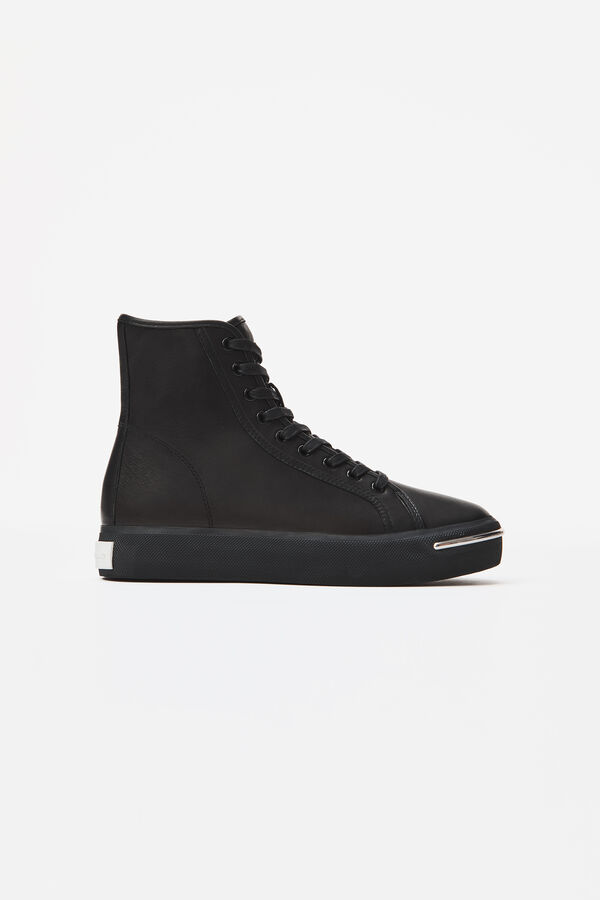 Alexander Wang Pia Leather Hi-top Trainers In Black