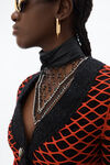 tweed fishnet jacket