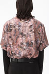 printed silk short sleeve shirt
