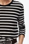wide stripe long sleeve tee