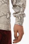 高捻棉蛇纹印花长袖衫