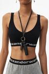 ribbed logo bra