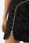 弧形拉链连衣裙
