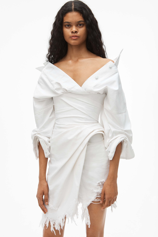 ALEXANDER WANG Denims FALLING SHOULDER DENIM CORSET DRESS